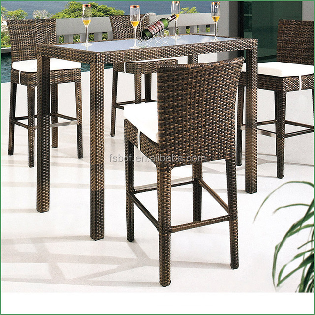 bar table and chairs. height cocktail bar table and chairs set rattan high garden furniture hfd009