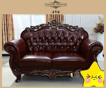 Antique Tufted Full Grain Leather Chesterfield Sofa