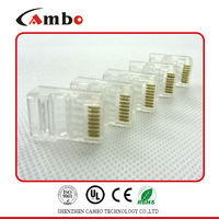 Made In China Free sample Gold plating 3u,6u,15u,50u network cable /lan cable connection box