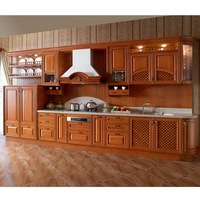 China Ready to Assemble Kitchen Cabinets with solid wood