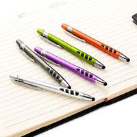 Custom material and logo 2 in 1 rubber tip stylus touch pen with ballpoint pen