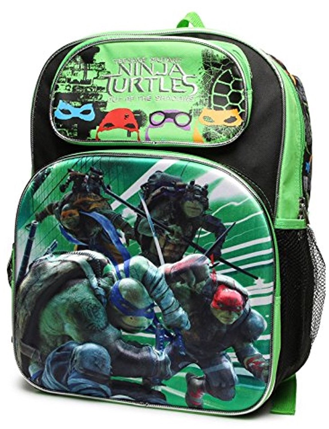 8d93d5d5a16 Get Quotations · Nickelodeon Teenage Mutant Ninja Turtle Kids 16 inch  Backpack - Children's Daycare School Travel Gift -