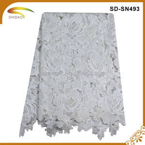 2016 High Quality French Lace African Fabric For Garment Wedding Dress