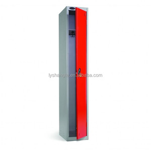 Popular single door iron wardrobe with competitive price