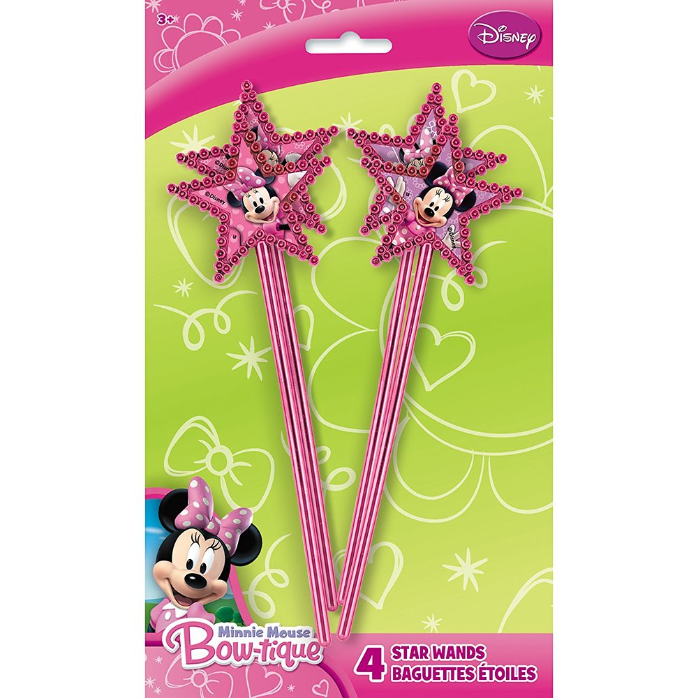 Minnie Mouse Wands, 4 Count