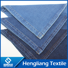 Knitted denim fabric elastic comfort breathable denim fabric indigo Lycra small trousers