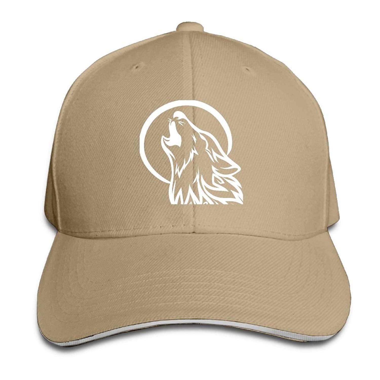 2c72033d04fe0 Wolf Moon Adjustable Baseball Hat Dad Hats Trucker Hat Sandwich Visor Cap