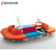 Attractive Design Office Space Leisure Modern Sofa Foshan / Big Round Shape Sofa Lounge