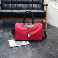 2019 wholesale custom Waterproof nylon Trim Travel Tote Duffel Handbag Weekend Bag