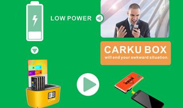 Estação de ancoragem CARKU BOX com 6pcs ou 10pcs 6000mAh bateria carregador de telefone
