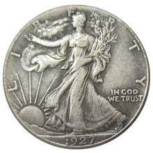 USA 1927-S Walking Liberty Half Dollar Verzilverd Reproductie Decoratieve Herdenkingsmunt Custom Munten