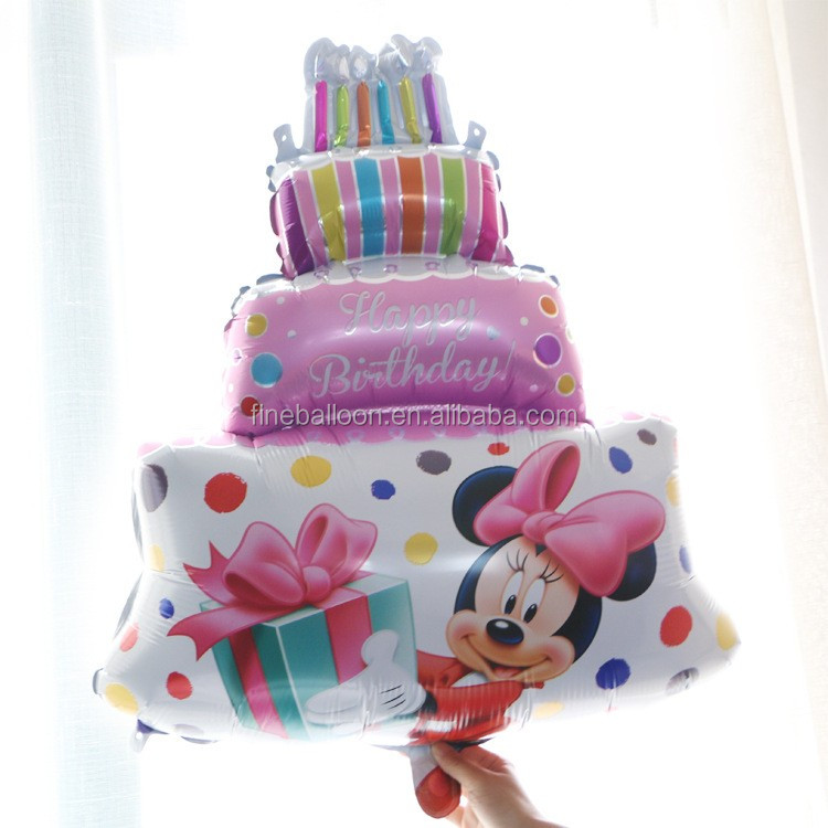 Big Size Mickey Mouse Happy Birthday Printed Foil Cake Balloon Buy