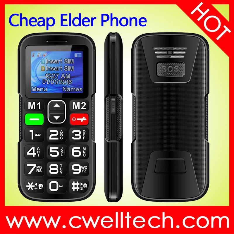 SENIOR W2 1.77 Inch Screen Dual SIM Card SOS Function old man mobile phone