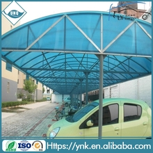 Guangzhou polycarbonate auvents parking prix de feuille