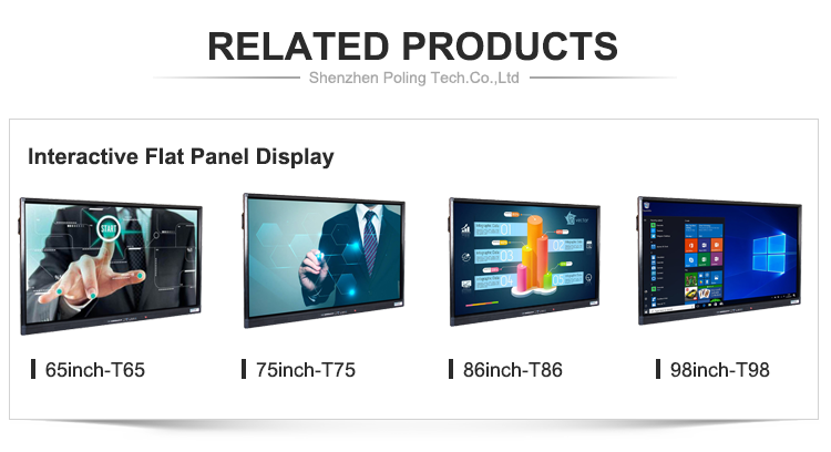 Conference Touch Screen Smart Interactive White Price Ce Fcc Rohs 43 Inch Advertising Stand Board Digital Signage Media Player