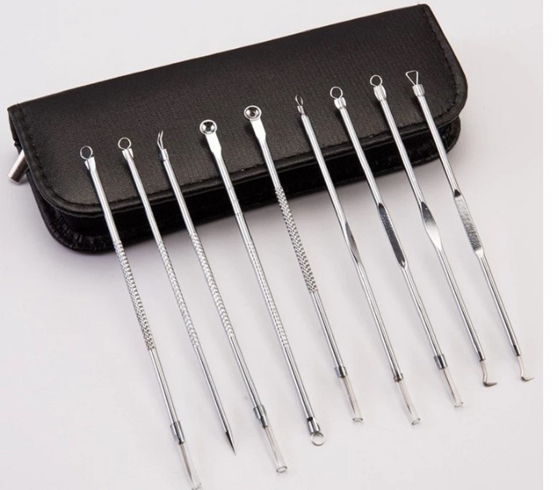 2020 Stainless Steel Blackhead Remover Set, Blackhead Remover Tool, Blackhead Remover Kit Set PR-153