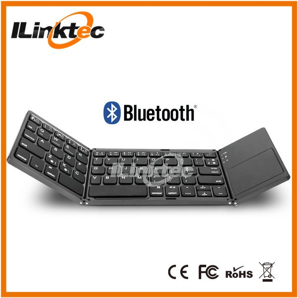 High Quality Competitive Price Aluminium Foldable Bluetooth Keyboard With Touchpad