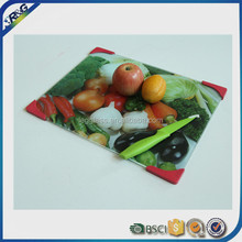 square shape fruit vegetable stand design glass cutting board