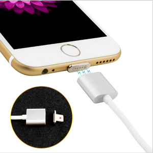 Cell Phone 2 in 1 Cable Magnetic USB Charger USB Charging Data LED Metal Micro USB Function Cables Magnetic Phone Charger