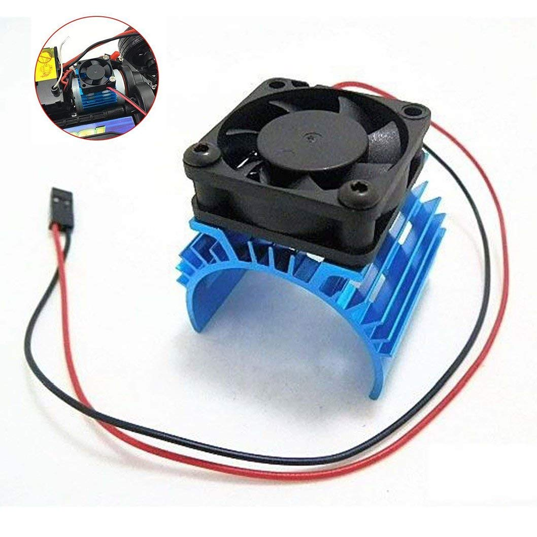 Cheap Electric Fan Motor Wiring Diagram Find Blower Get Quotations Jftech Aluminum Heat Sink Heatsink With 5v Cooling For Hsp Tamiya Traxxas Rc