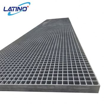 "Anti slip FRP molded grating 1-1/2"" thick with 1-1/2"" square mesh,with grit."
