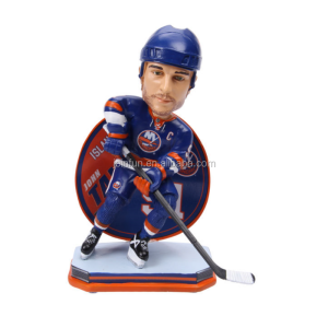 custom 3d plastic hockey sport bobblehead, personalized Promotional Stadium New York bobblehead doll