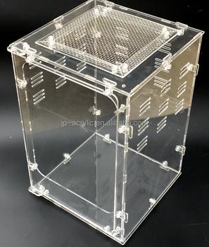 Custom Acrylic Countertop Spiders Scorpions Snakes Cage Box Animal