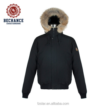 c3e1a05ccd63 Oem Men s Winter Down Coat With Detachable Real Wolf Fur - Buy ...