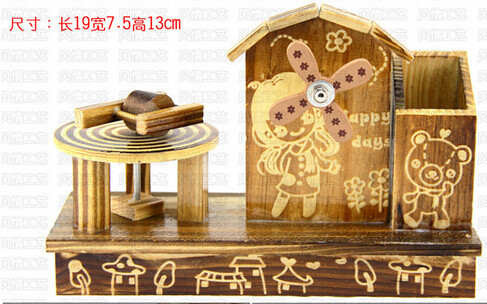 hot selling wood hand crank music box