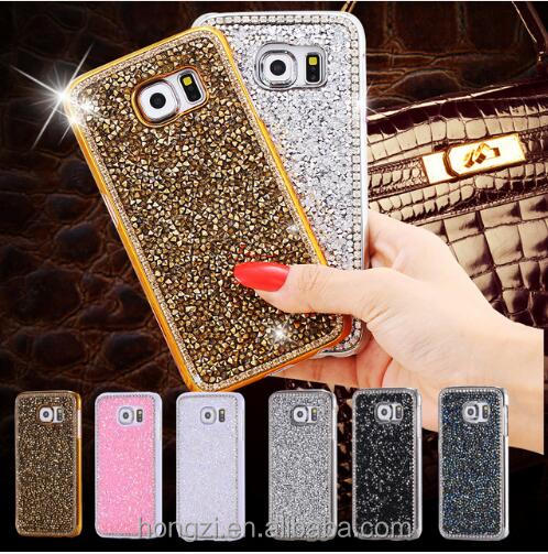 For <strong>Samsung</strong> Galaxy S7 <strong>Edge</strong> Note 5 4 <strong>S6</strong> S5 S8 p <strong>Case</strong> PC Hard Back Cover Luxury Bling Diamond Crystal Glitter Electroplating <strong>Cases</strong>