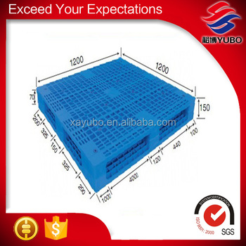 Qualified double-sided mesh high quality industrial plastic pallet