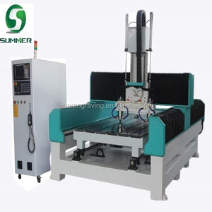 cnc carving marble granite stone machine flat and column engraving machine cut stone machine