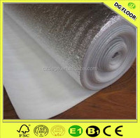 Roll foam EPE flooring underlayment foam with aluminum foil