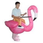 Hot Selling Flamingo Inflatable Costume Reider Cosplay Halloween Inflatable Suit Rose Pink Inflatable Costume