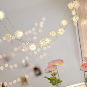 ad wedding or christmas garden party indoor decoration light led fairly rose flower string lights