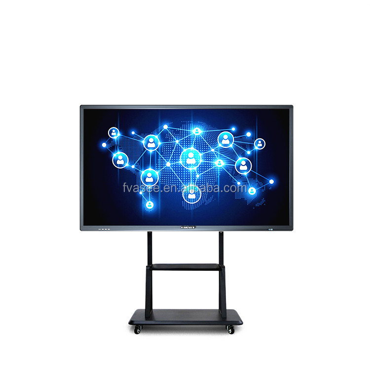 "55 ""Interactive Flat Panel Display Touchscreen Draadloze 4 K Whiteboard Business Training Onderwijs All In One PC"