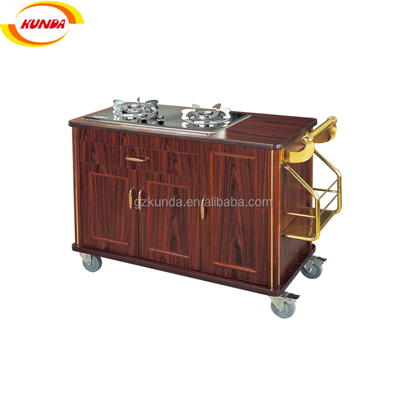 Stainless Steel Dining Table Dining Cart Cook Trolley Cart Wooden Flambe  Cart B 026a01   Buy Stainless Steel Dining Table Dining Cart Trolley Cart,Cook  ...