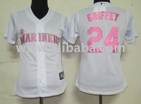 Baseball & Softball wear Women Jerseys Seattle Mariners #24 Griffey White