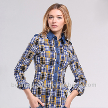 comfortabele casual shirt mode <span class=keywords><strong>dames</strong></span> <span class=keywords><strong>blouse</strong></span> in de fabriek prijs