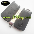 Good Price 2 button car key blanks for remote key for opel antara with left blade key shell
