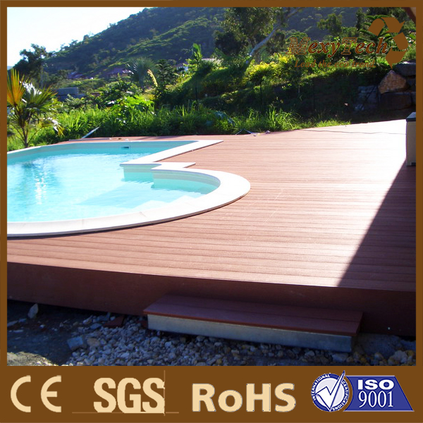 co-extrusion wpc swimming pool decking wpc with lower price