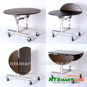 Stainless Steel Legs Folding Room Service Trolley
