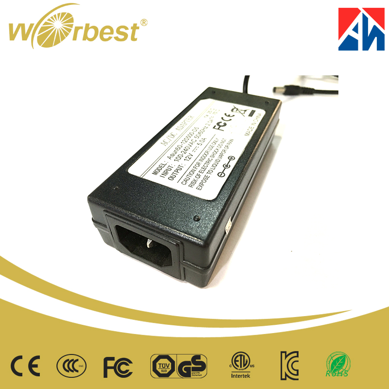 Promotion Desktop AC to DC 12V 5A Power Adapter OEM/ODM Chinese OEM Manufacturor