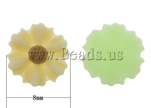 Free shipping!!!Resin Cabochon,2013 new men, Flower, flat back, mixed colors, 8x2.50mm, 500PCs/Bag, Sold By Bag