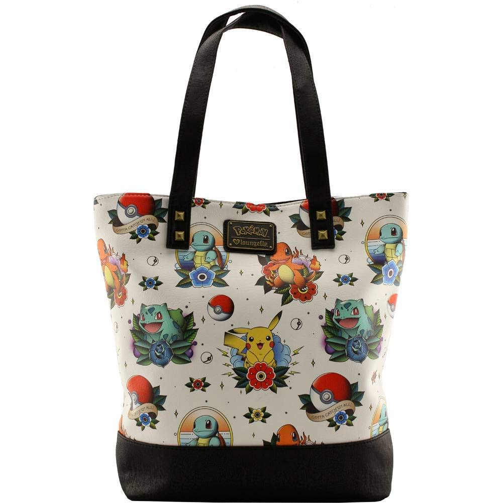 Loungefly Pokemon Tattoo Tote Bag Beige d6733267ff6a3