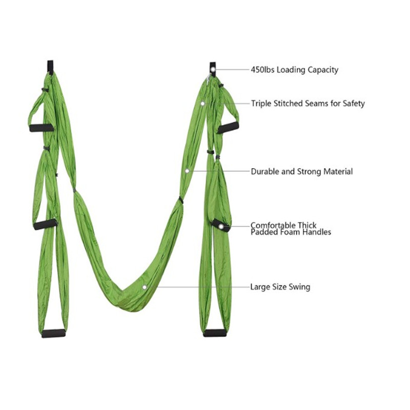 Oempromo anti-gravity nylon air flying aerial yoga swing hammock stand