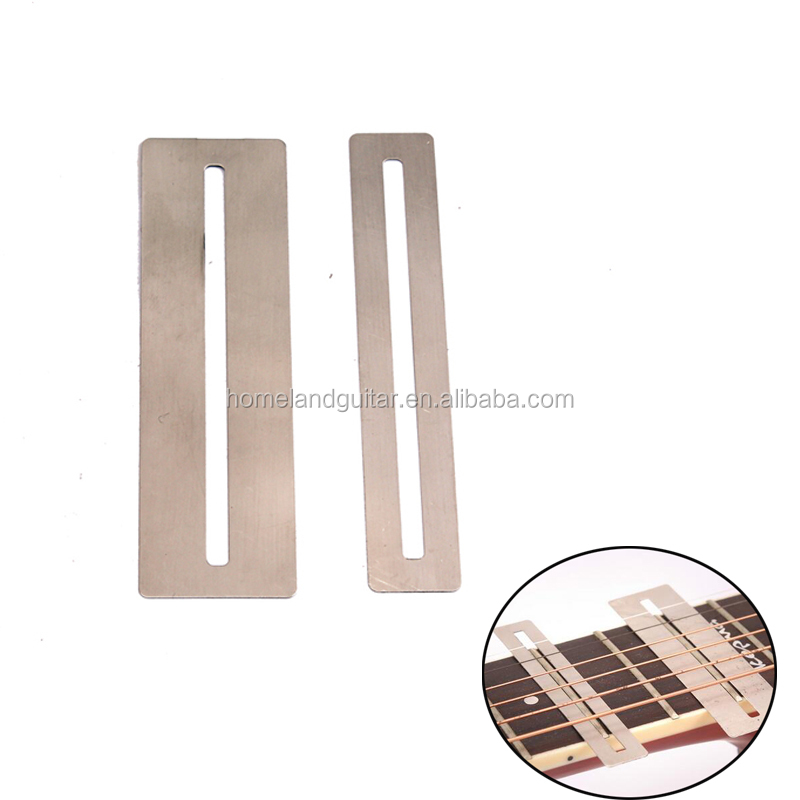 Guitar Parts & Accessories Stringed Instruments 2pcs Musical Instrument Stainless Steel Fingerboard Fretboard Protector Plate Ruler Fret Repair Tool For Guitar Bass Consumers First