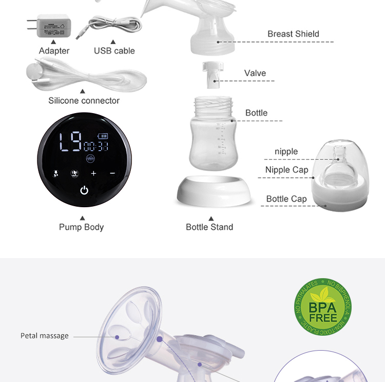 bpa free portable breast pump