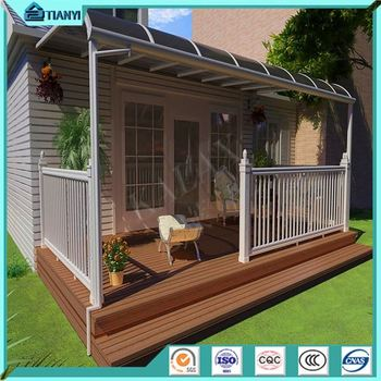 Strong wind resistant plastic canopy shelter waterproof shade with outdoor canopy roof supports & Strong Wind Resistant Plastic Canopy Shelter Waterproof Shade With ...
