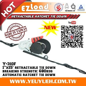 "[EZ LOAD] 1"" Motorbike Locking Tie Down Tensioner with Micro Ratchet"